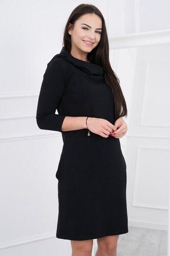 ded2d57435 MODANOEMI Női kényelmes fekete ruha kapucnival 8847C - Glami.hu