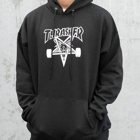 Pánská mikina Thrasher Skategoat Hood black - Glami.cz 9031110f13