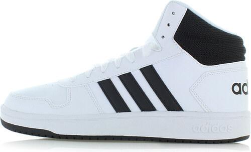 3b0436f8a16e adidas CORE Pánske čierno-biele členkové tenisky Hoops 2.0 Mid ...