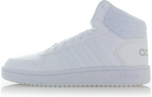 74d0bf6ebf adidas CORE Dámske biele členkové tenisky Hoops 2.0 Mid - Glami.sk