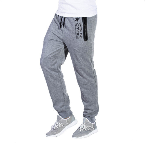 Ombre Clothing Pánské tepláky s kapsami na zip Circuit šedé - Glami.cz a979e2e64b