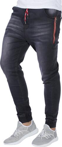Ombre Clothing Pánské riflové jogger kalhoty Chace černé - Glami.cz 3bdf8c5ed9