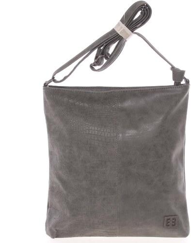ae0b390c82 -5% Ľahká stredná dámska crossbody kabelka sivá - Enrico Benetti Aria šedá