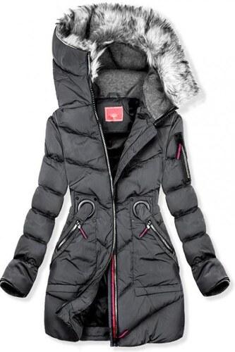 Trendovo Sivá zimná predĺžená bunda - Glami.sk cf076245edd