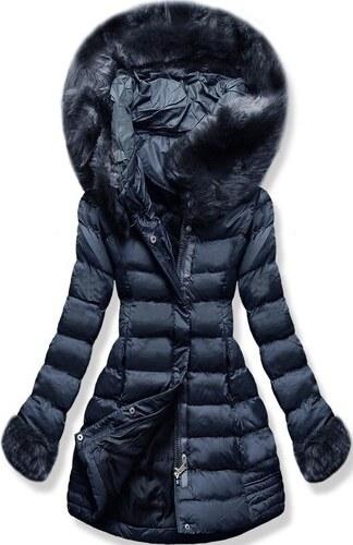 MODOVO Dámska zimná bunda s kapucňou W750 tmavo modrá - Glami.sk bafe1ede4e9