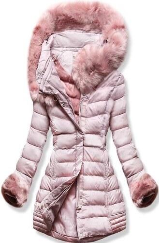 MODOVO Női téli kabát kapucnival W750 púderrózsaszín - Glami.hu bedc8d5861