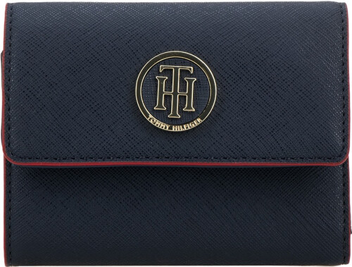 70baf452ba Tommy Hilfiger Dámska peňaženka Honey Med Flap Wall et Navy   Red ...