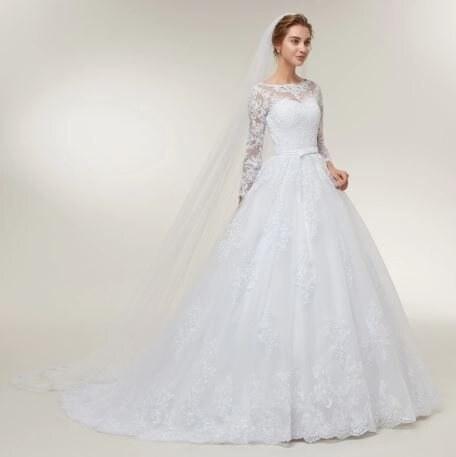 Donna Bridal Luxusni Svatebni Saty S Krajkou A Dlouhym Rukavem