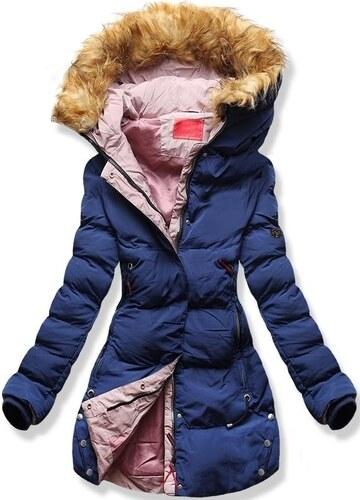 MODOVO Dámska zimná bunda s kapucňou M-7 tmavo modrá - Glami.sk da9d77b5276