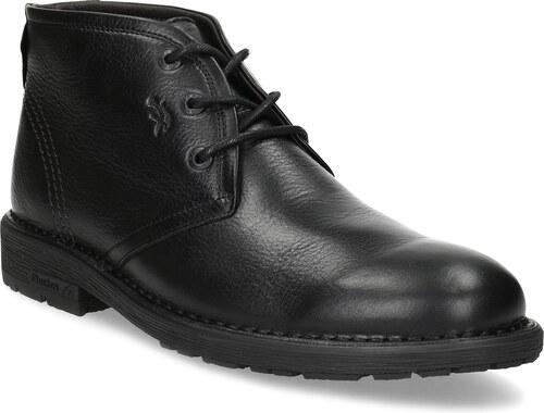 Fluchos Zimní kotníčková pánská obuv kožená černá - Glami.cz 9b49f41dc0