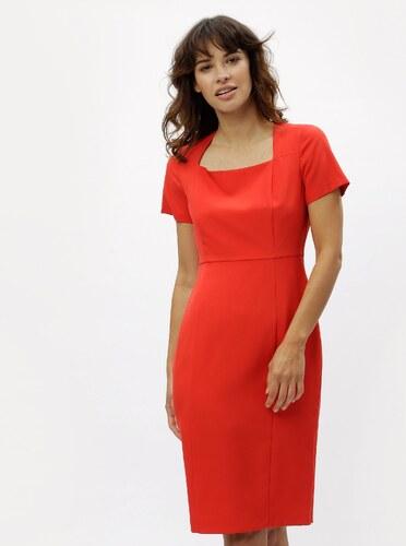 9f8d0fbf08e0 Červené puzdrové šaty s hranatým výstrihom Dorothy Perkins - Glami.sk