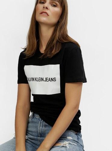 cb57365da31e Čierne dámske tričko s potlačou Calvin Klein Jeans - Glami.sk