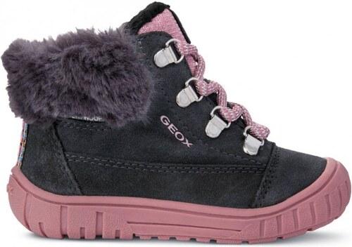 Geox dívčí zimní boty Omar 26 tmavě šedá - Glami.cz 63f89f6f60