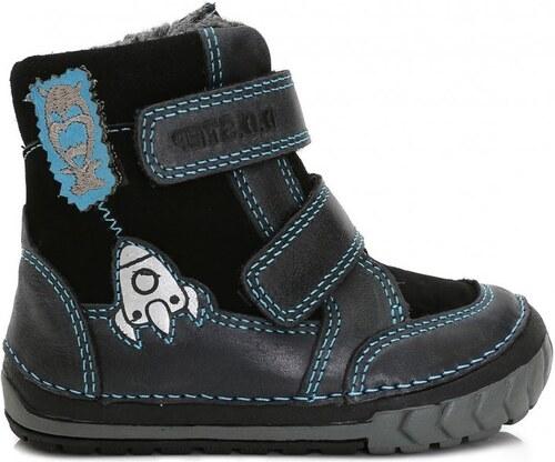 D-D-step chlapecké zimní boty s raketou 22 tmavě modrá - Glami.cz 0660b8109d