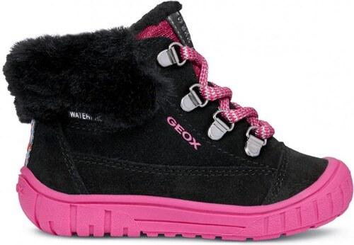 3eda8a6e0c7 Geox dívčí kotníčkové boty Omar 26 černá růžová - Glami.cz