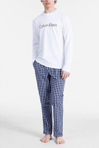 Calvin Klein kék-fehér férfi pizsama L S Pant Set - Glami.hu aea56b31fa