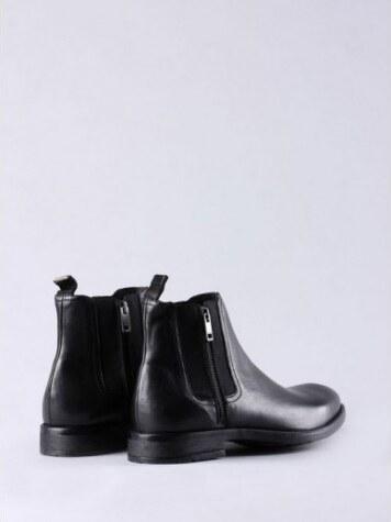 d84dc2f717 Černé kožené kotníkové boty Diesel D-ANKLOOK - Glami.cz