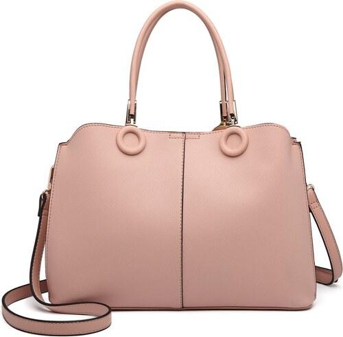 -13% Růžová luxusní dámská stylová kabelka do ruky i přes rameno Palnie 8f9d4a4337e