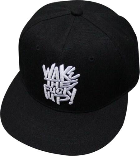 Rebel Snapback - Kšiltovka Wake The Fuck Up! Černá - Glami.cz 9e6b0f5e60