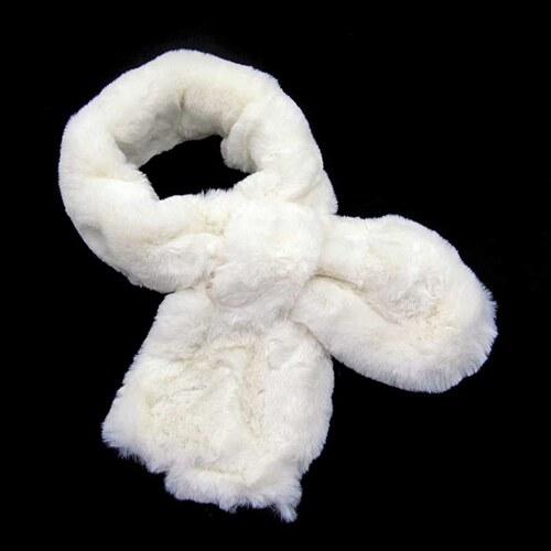 Dámský luxusní bílý kožešinový límec-šála - Glami.cz a2a0f7c242