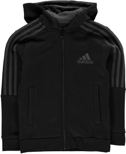 adidas 3S Logo Full Zip dětská mikina Boys Black DkGrey - Glami.cz 4ab215e46ef