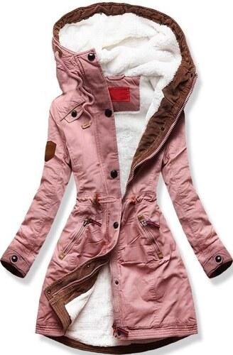 MODOVO Dámska zimná bunda s kapucňou A931 púdrová - Glami.sk 7f5a630d4ff