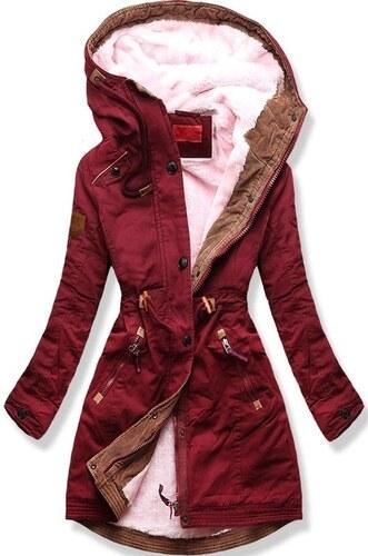 MODOVO Dámska zimná bunda s kapucňou A931 bordová - Glami.sk 0775d0ffba7