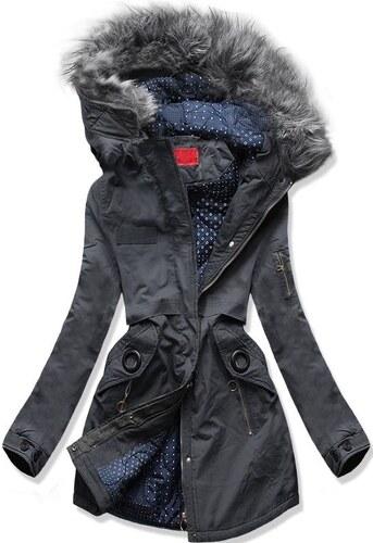 MODOVO Dámska zimná bunda s kapucňou A-16 grafitová - Glami.sk b3b5b8a0ea7