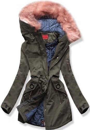 MODOVO Női téli kabát kapucnival A-16 zöld - Glami.hu a7f41afffa