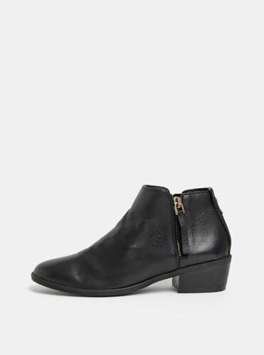 b7dd2f59d6 Čierne dámske kožené členkové topánky ALDO Veradia - Glami.sk