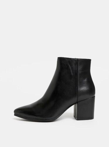 5d50bcb21 Čierne dámske kožené členkové topánky ALDO Fralissi - Glami.sk