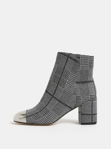 55f7c56c2 Krémovo–čierne dámske vzorované členkové topánky ALDO Seiria - Glami.sk