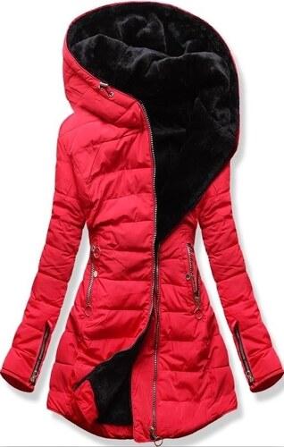 MODOVO Női téli kabát kapucnival M13 piros - Glami.hu e880d9b105