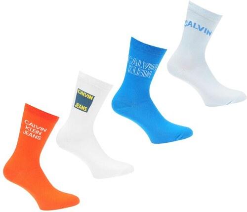 b1c7da83b Dámské ponožky Calvin Klein Jeans 4 v balení Multi - Glami.cz