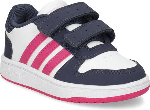Adidas Biele detské tenisky na suchý zips - Glami.sk 87bd8ceacbc