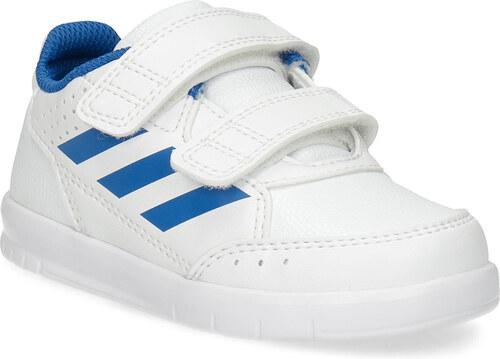 Adidas Biele detské tenisky s modrými detailami - Glami.sk b96aa1c22f4
