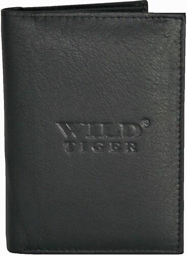 f5530fccd5ca9 Pionowy portfel męski Wild Tiger AMW-01-115 - Kolor   Czarny AMW-01 ...