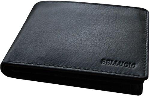 d2198e51d Čierna tenká pánska peňaženka Bellugio z kože 05-PM-68-326 - Glami.sk