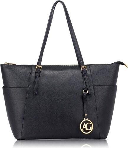 Anna Grace černá kabelka shopper velká - Glami.cz 659186bbeae