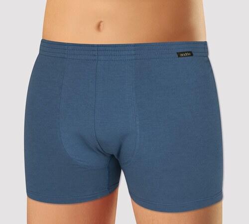 dc97be947 Andrie Spodní prádlo Andrie Pánské boxerky z elastické bavlny PS5341 Tmavě  modré