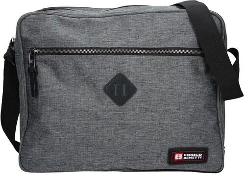 dcf504e2f Pánská taška přes rameno Enrico Benetti Montain - šedá - Glami.cz