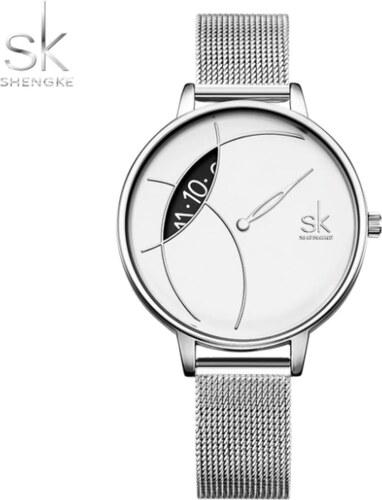 ff4813a42 SK Shengke hodinky Corona Silver K0091_SILVER - Glami.cz