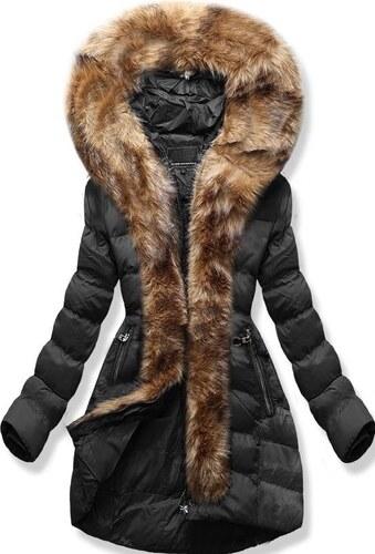 MODOVO Dámska zimná bunda s kapucňou W756 čierna - Glami.sk d1147edf07f