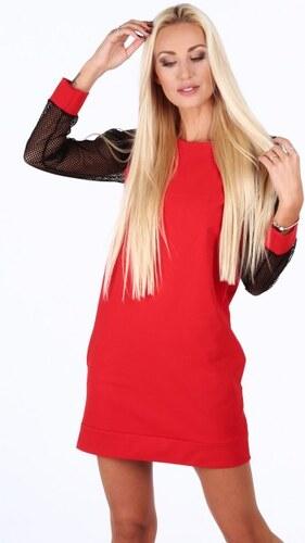 Fasardi Červené športové šaty s rukávmi zo sieťkoviny - Glami.sk fc1c2a2cc7a