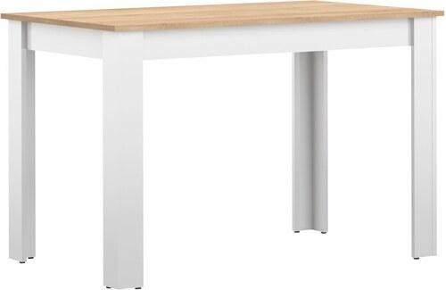 2fb6409d030b Biely jedálenský stôl s doskou v dekore bukového dreva Symbiosis Nice