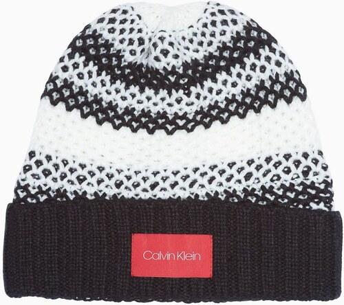 Calvin Klein dámská čepice Honeycomb - Glami.cz 77084545cd