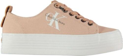 Dámské boty Calvin Klein Zolah na platformě Růžové - Glami.cz 3d03195e84