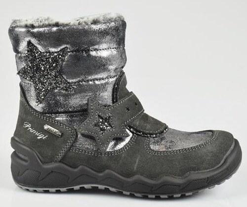 ce897ebe21e60 Primigi Dievčenské zimné topánky - šedé s hviezdou - Glami.sk