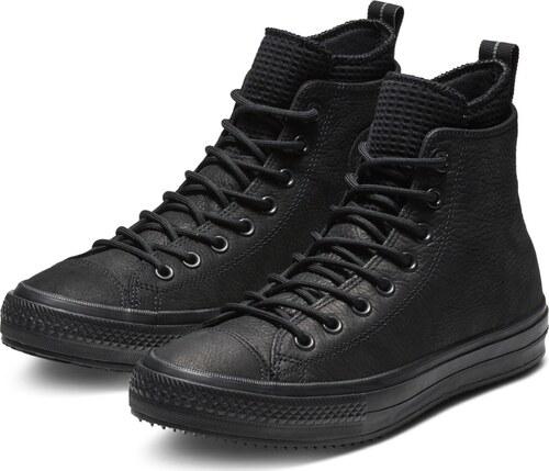 21e51a62a7b Converse černé kožené pánské tenisky Chuck Taylor All Star Hi Black - 42