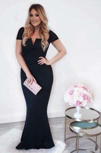 b0b53b822281 ZAZZA Dlhé čierne elegantné šaty - Glami.sk